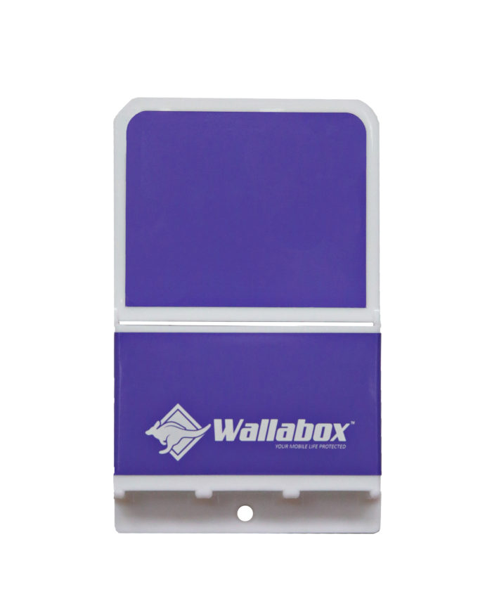 Universal Wall Mounted Cell Phone Holder in Vivid Violet